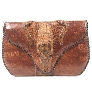 Vintage 1950s Baby Alligator Purse Bag